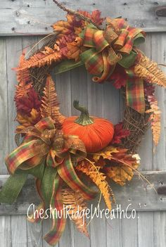 Your place to buy and sell all things handmade Thanksgiving Wreaths, Autumn Wreaths, Thanksgiving Decorations, Wreath Fall, Fall Decorations, Grapevine Wreath, Halloween Decorations, Wreaths For Front Door, Mesh Wreaths