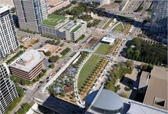 Best New Park in Dallas - Klyde Warren Park  This freeway deck park between downtown and uptown shines