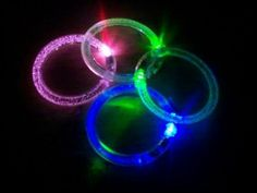 LED Flashing Bracelet Multicolored Lights Hard To Find, Computer Accessories, Party Supplies, Consumer Electronics, Neon Signs, Led, Lights, Bracelet, Armband