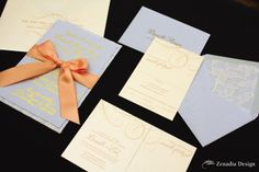 Great color combo. LOVE the lace lined envelope.