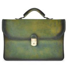 Деловая кожаная сумка pratesi piccolomini-604B-7 зеленая 699,00 €