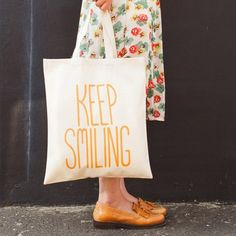 tote bag Keep smiling