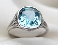 """Vintage Tiffany Aquamarine Ring - """"This used to be my birthstone ring made by Vitri Jewelers until it was stolen."""" -Nikki"""