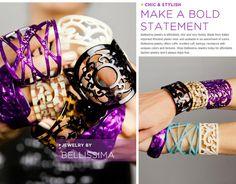bellissima - love these resin bracelets!