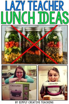 Need quick and easy teacher lunch ideas? Read about the one tool I've found that helps me have lunch ready to go everyday! Teacher Lunches, Easy School Lunches, Healthy Lunches For Work, Work Lunches, Teacher Stuff, Student Teacher, Teacher Tips, School Days, Healthy Foods