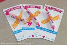 valentine idea with smarties   Plus, I found a box of 48 Smarties at Walmart for under $3! Score!
