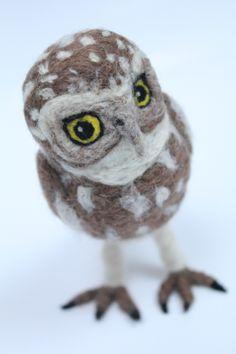 Needle felt Little Owl