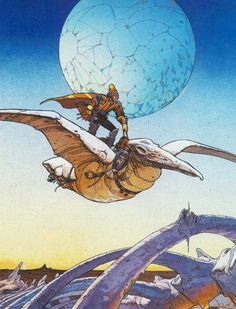 As you may have heard one of the greatest comic artists of all times, Jean Giraud better known as Moebius has died in France at the age of Art And Illustration, Illustrations, Jean Giraud Moebius, Moebius Art, Moebius Comics, Fantasy Kunst, Fantasy Art, Serpieri, Comic Kunst