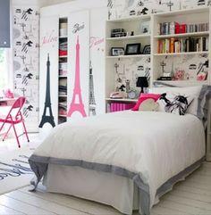 Par�s: Ideas de Dormitorios para Chicas Adolescentes en Rosa