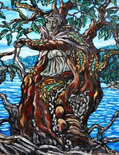 Delphic Arbutus - oil painting by Julie Johnston