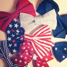OMG I love these soooo much!! Bows and the American flag design are two of my favorite things. I must find these!! ♡♡