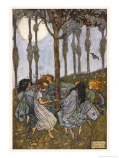 Fairies Amoungst the Trees Giclee Print by Florence Harrison at Art.com
