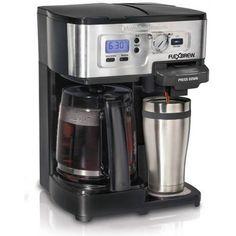 Single Cup Coffee Maker K-Cup 12 Serving Carafe Pot Combination Machine Fits Mug #SingleCupCoffeeMaker