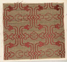Fragment Date: 16th century Culture: Italian (Venice) or Turkish Medium: Silk, metal thread Accession Number: 2002.494.184