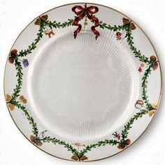 Royal Copenhagen christmas china dinner plate pattern