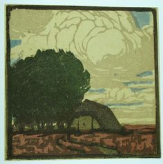 Helene Mass, German, color woodcut