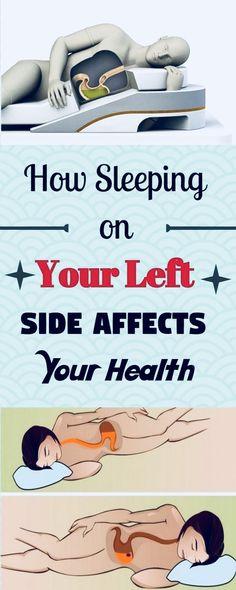 How Sleeping on Your Left Side Affects Your Health – Herbal Medicine Book When You Sleep, Trying To Sleep, Sleep Help, Health And Wellness, Health Fitness, Health Tips, Health Care, Holistic Wellness, Tips