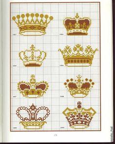 Вышивка крестом / Cross stitch : Короны - цветные схемы вышивки крестом