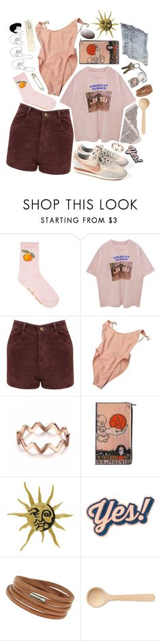 """""""down to the lake;"""" by illumathotie ❤ liked on Polyvore featuring Miss Selfridge, American Apparel, Anya Hindmarch, Wallis and HAY"""
