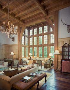 Living Room, Willowick Residence, Houston, Texas