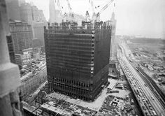 World Trade Center during construction.