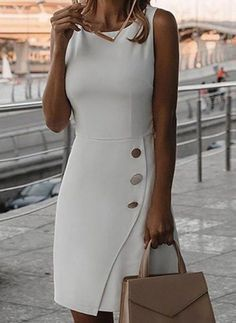 Casual Dresses, Fashion Dresses, Dresses For Work, Office Dresses, Dresses Dresses, Summer Dresses For Women, Dress Summer, Vestido Casual, Work Attire
