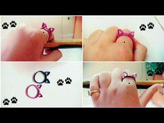 DIY Paper Quilling Cat Ring