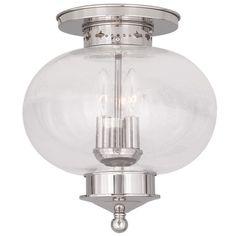 Livex Lighting 5037 Harbor 3 Light Semi-Flush Ceiling Fixture