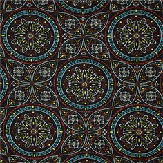 This is ablack, red, blue and green floral indoor outdoor fabric by Richloom Platinum fabrics, suitable for any dcor. Perfect for pillows, cushions and furniture.v134FHF