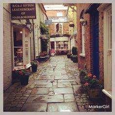 Postcard England village shops