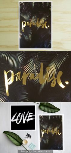 Paradise Gold Foil Print | Blacklist Studio - created via http://pinthemall.net