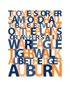 CUSTOM Personalized Auburn University by APinwheelProduction, $16.00