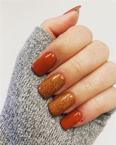Need some nail design inspiration for your nails at autumn We ve searched for 90 inspiration for fall manicures for you So take a look and get some inspiration FallNails NailArt NailDesigns gelnaildesignsforfall Colorful Nail Designs, Fall Nail Designs, Cute Nail Designs, Shellac Designs, Nail Polish Designs, Nails Design, Cute Nails, Pretty Nails, My Nails