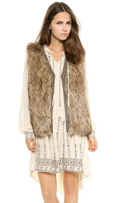 Burning Torch Venus in Furs Faux Fur Vest - I've been looking for the perfect fur vest and I think this is it!