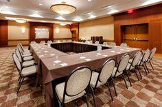 Hollow square meeting room setup.