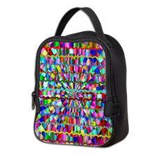Decorative Colors Neoprene Lunch Bag
