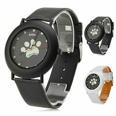 Tanboo Women's Dog Paws Style PU Analog Quartz Wrist Watch (Assorted Colors) by Tanboo Watchs. $8.99. Sports Fan Watch. Gender:Women'sMovement:QuartzDisplay:AnalogStyle:Wrist WatchesType:Casual WatchesBand Material:PUBand Color:White, BlackCase Diameter Approx (cm):4.3Case Thickness Approx (cm):0.7Band Length Approx (cm):24Band Width Approx (cm):2