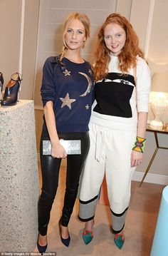 Poppy Delevingne and Lily Cole - At the launch of footwear brand Malone Souliers' latest collection in London.  (December 4, 2014)