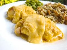 Chicken Roll Ups - chicken, cheese, milk, chicken soup and crescent rolls - Only 5 ingredients for a delicious weeknight meal that is ready...