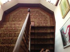 Stair Carpeting Installed By Riemer Floors.