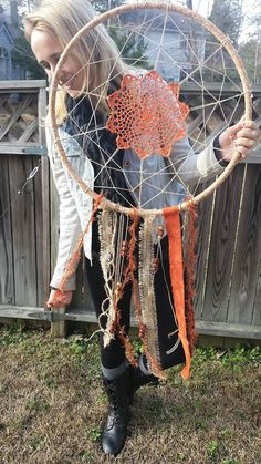 Large Doily Dream Catcher by WhenYouWereDreaming on Etsy #shabbychic