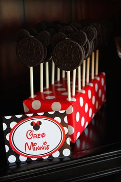 Mickey and Minnie Mouse themed birthday party with Such Cute Ideas via Kara's Party Ideas | Cake, decor, desserts, printables, favors, games...