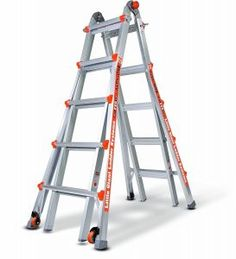 Little Giant Ladder Systems, Alta-One 22 ft. Aluminum Multi-Position Ladder with 250 lb. Load Capacity Type I Duty Rating, at The Home Depot - Tablet Ladder Leveler, A Frame Ladder, Locking Hinge, Best Ladder, Rolling Ladder, Aluminium Ladder, Bathroom Exhaust Fan, Little Giants, Type I