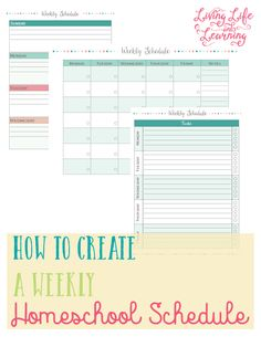 Organize your week so you and your child know exactly what to expect - tips on how to create a weekly homeschool schedule