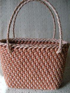 花結び編みのてさげかご - つちやなおみ