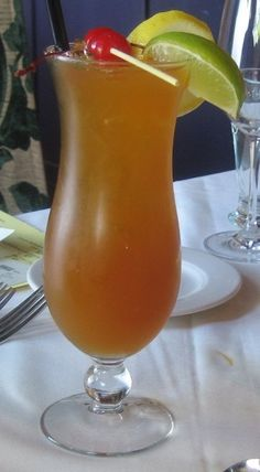 """HurricaneCocktail.This drink is known to most tourists in New Orleans.During celebrations tourists carry their """"togo"""" hurricane drinks with them. In New Orleans, you can carry your drink out of a bar and down the street, even into another bar. Hurricanes are also the cocktail of choice during Mardi Gras. Cheers!"""
