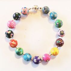 One of my super-popular clay beaded bracelets. $14.00.