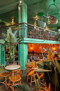 Designed by Studio Modijefsky, Bar Botanique brings a fresh and green interior to a former Dutch café.