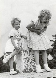 King Carl Gustaf XVI, Princess Sibylla, Princess Christina of Sweden, Princess Birgitta, Princess Margaretha, and Princess Desiree #SwedishRoyalFamily