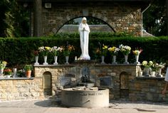 Banneux. Catholic pilgrimage to Marian Apparation shrine. The Virgin Mary appeared eight times to Mariette Béco, a young girl aged 11 years in 1933. https://www.pilgrim-info.com/banneux/